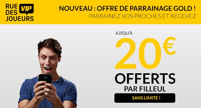 Du bonus Parionssport.fr aux 20 euros de parrainage Rue des Joueurs, des offres à saisir !
