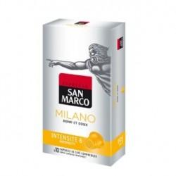 Capsule café « Milano » de San Marco ? 10 capsules de finesse (légères nuances de noisette) !